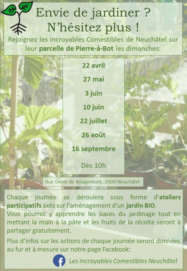 Envie de jardiner? Rejoignez-nous à Pierre-à-Bot